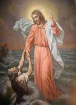 Спасение Петра.  Южный придел.  Наместник приказал увести их обратно в темницу, а святой Уар возопил к ним...